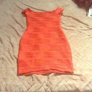 Bright orange dress, NEVER WORN